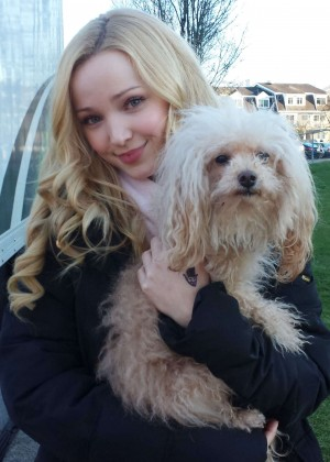 "Dove Cameron on the set of ""Monsterville"" in Vancouver"
