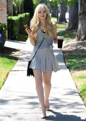 Dove Cameron in Short Dress out in Beverly Hills
