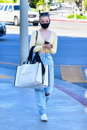 Dove Cameron - seen at Alice and Olivia in West Hollywood