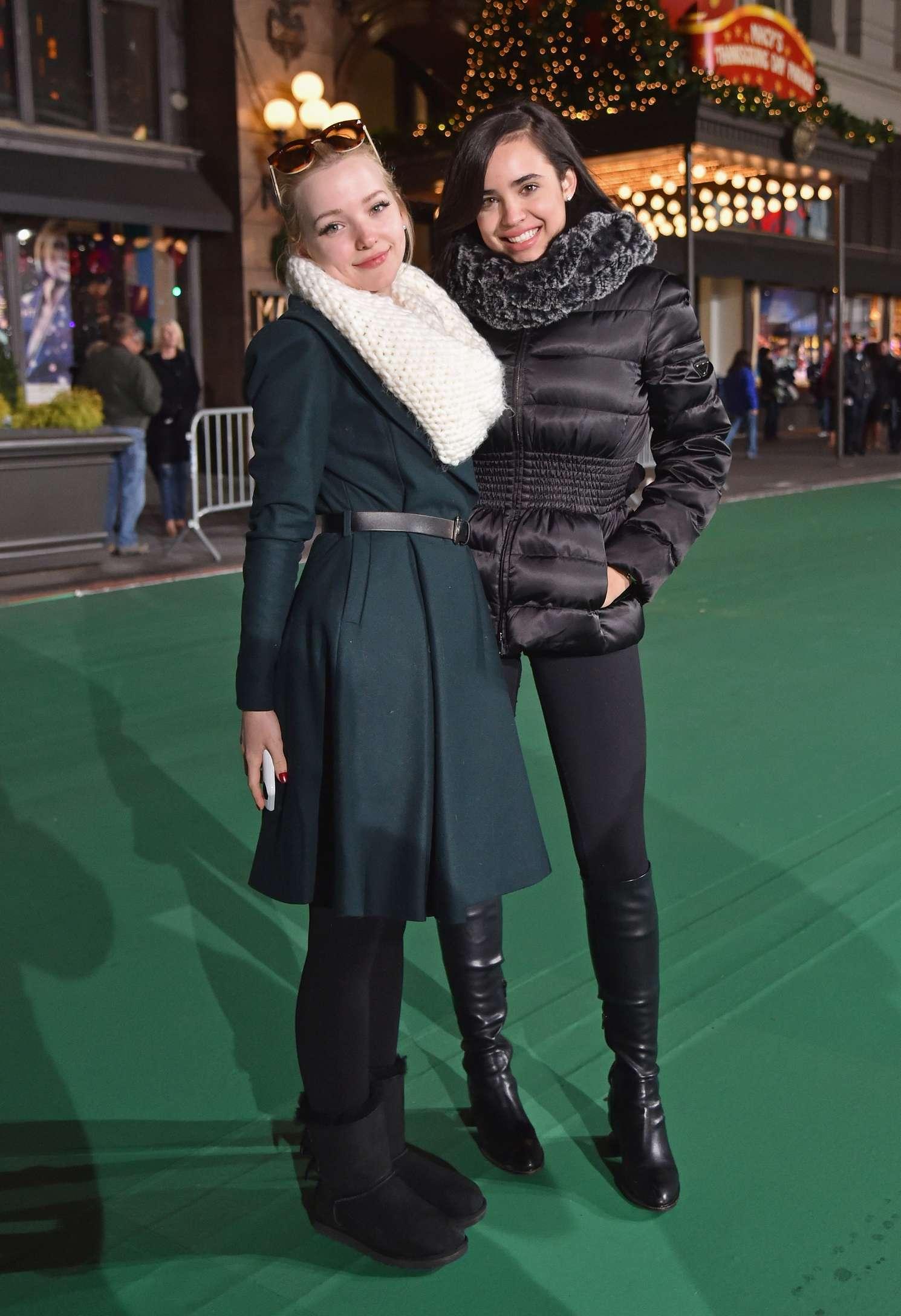 Dove Cameron & Sofia Carson - 2015 Macy's Thanksgiving Day Parade Rehearsals - Day 2 in NY