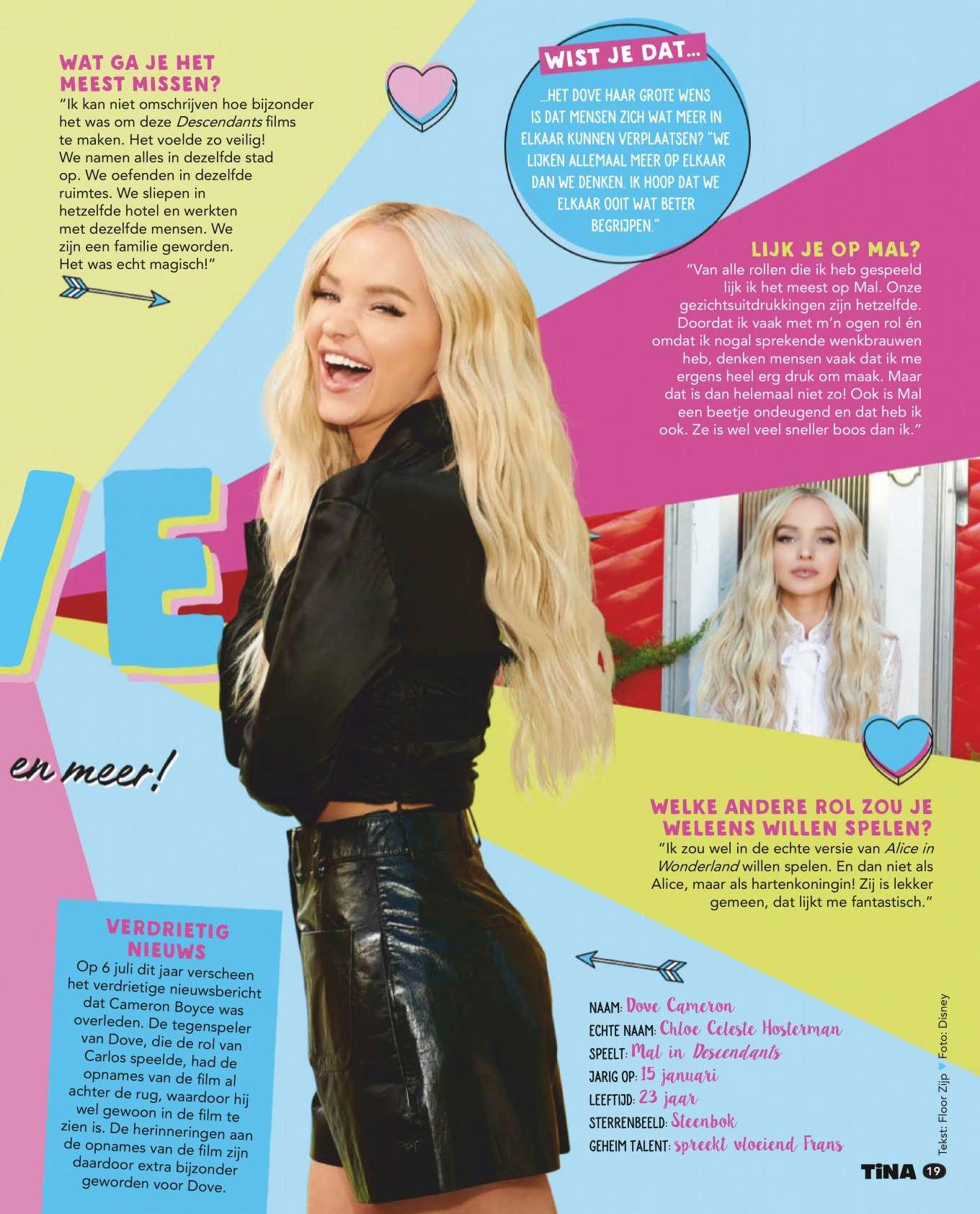 Dove Cameron - Tina Magazine Netherlands (October 2019)