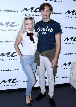 Dove Cameron - Visits Music Choice studio in New York