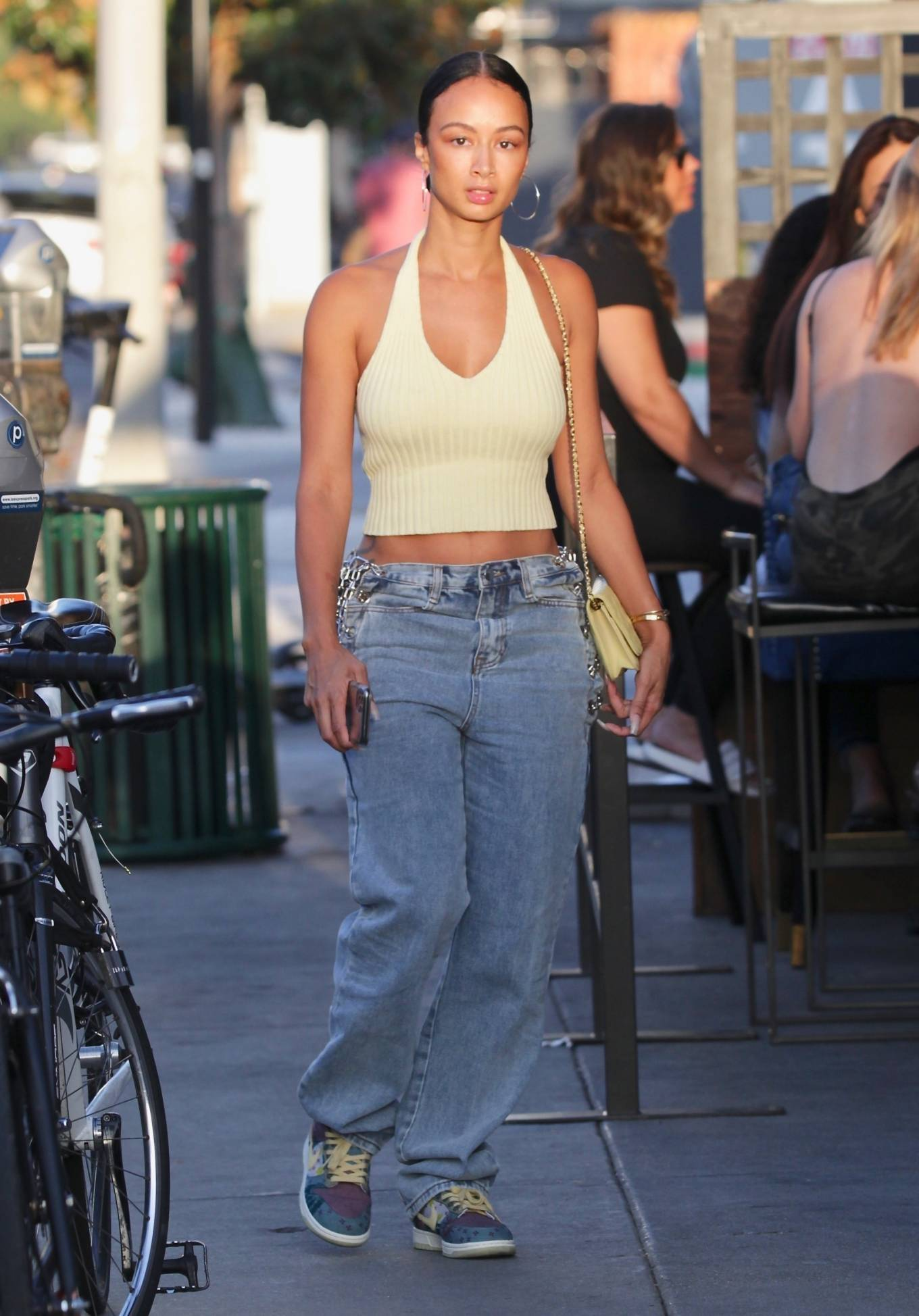 Draya Michele 2020 : Draya Michele – Aarriving at a restaurant in Los Feliz-02
