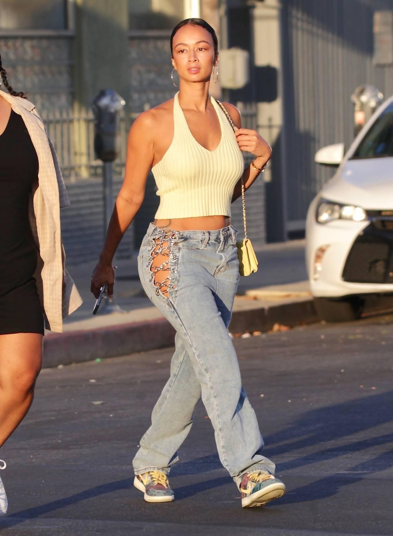 Draya Michele 2020 : Draya Michele – Aarriving at a restaurant in Los Feliz-03
