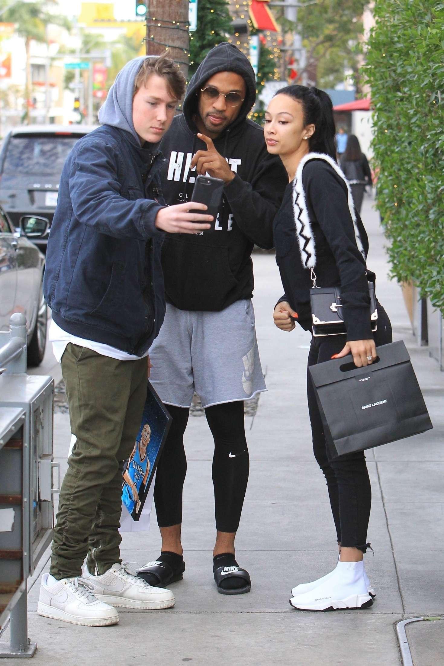 Draya Michele 2018 : Draya Michele and Orlando Scandrick: Shopping in Beverly Hills -04
