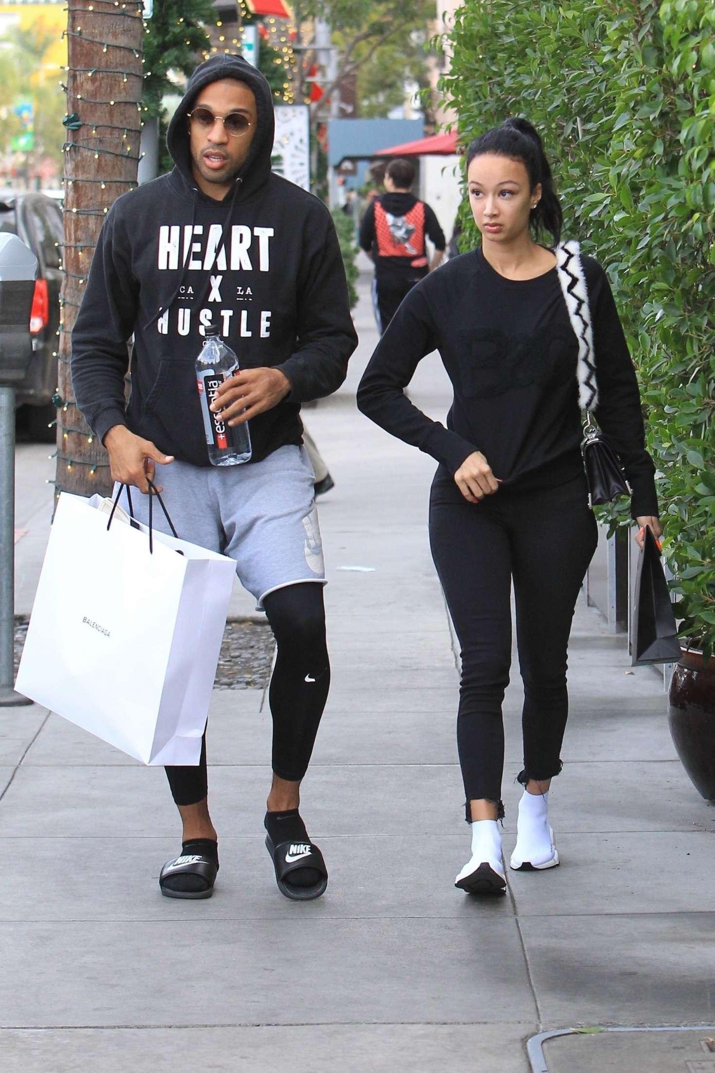 Draya Michele 2018 : Draya Michele and Orlando Scandrick: Shopping in Beverly Hills -06