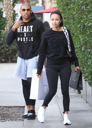 Draya Michele and Orlando Scandrick - Shopping in Beverly Hills