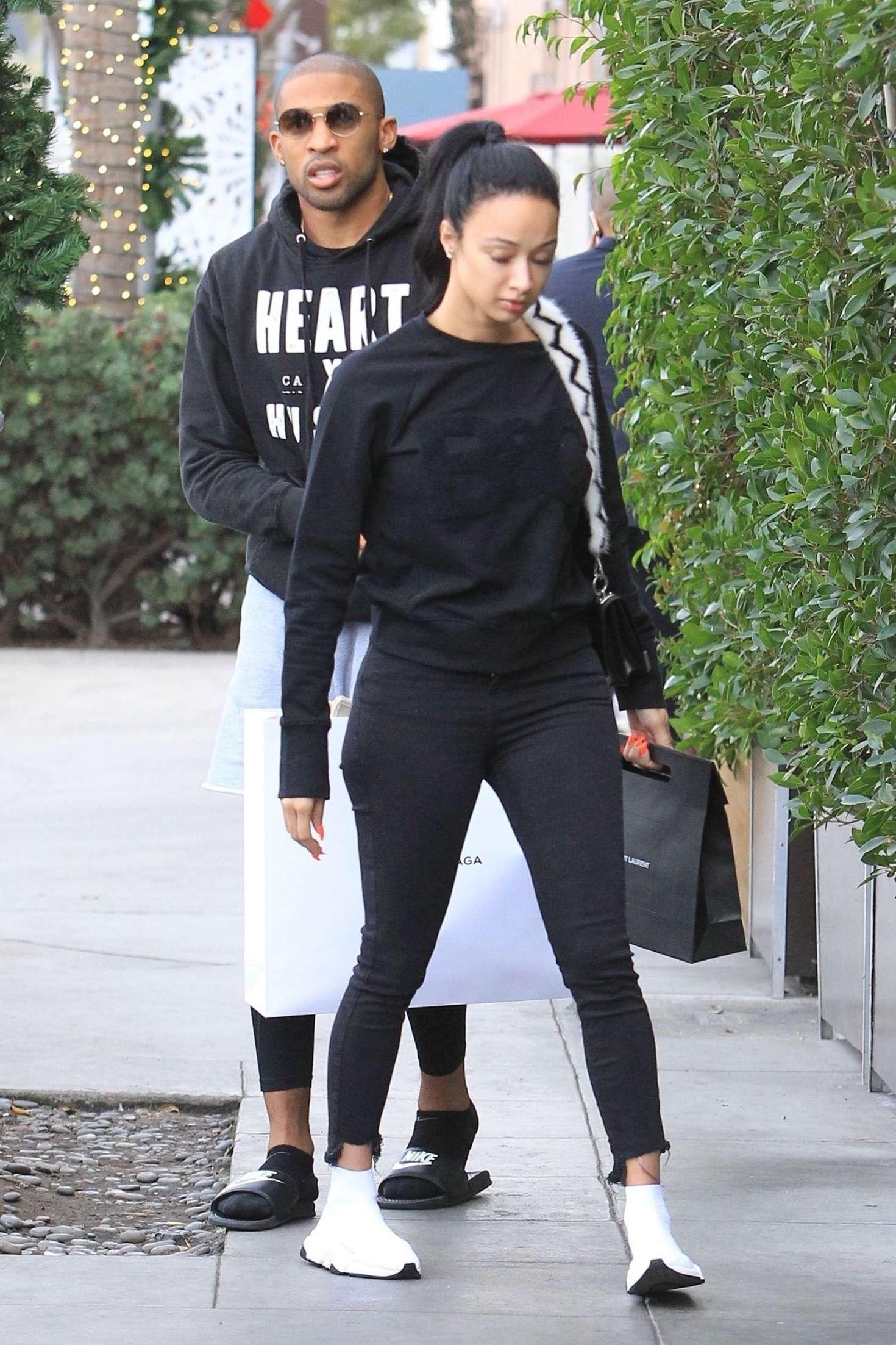 Draya Michele 2018 : Draya Michele and Orlando Scandrick: Shopping in Beverly Hills -09