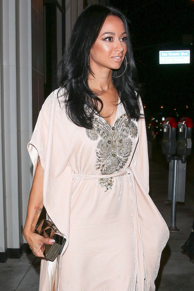Draya Michele at Catch restaurant in West Hollywood