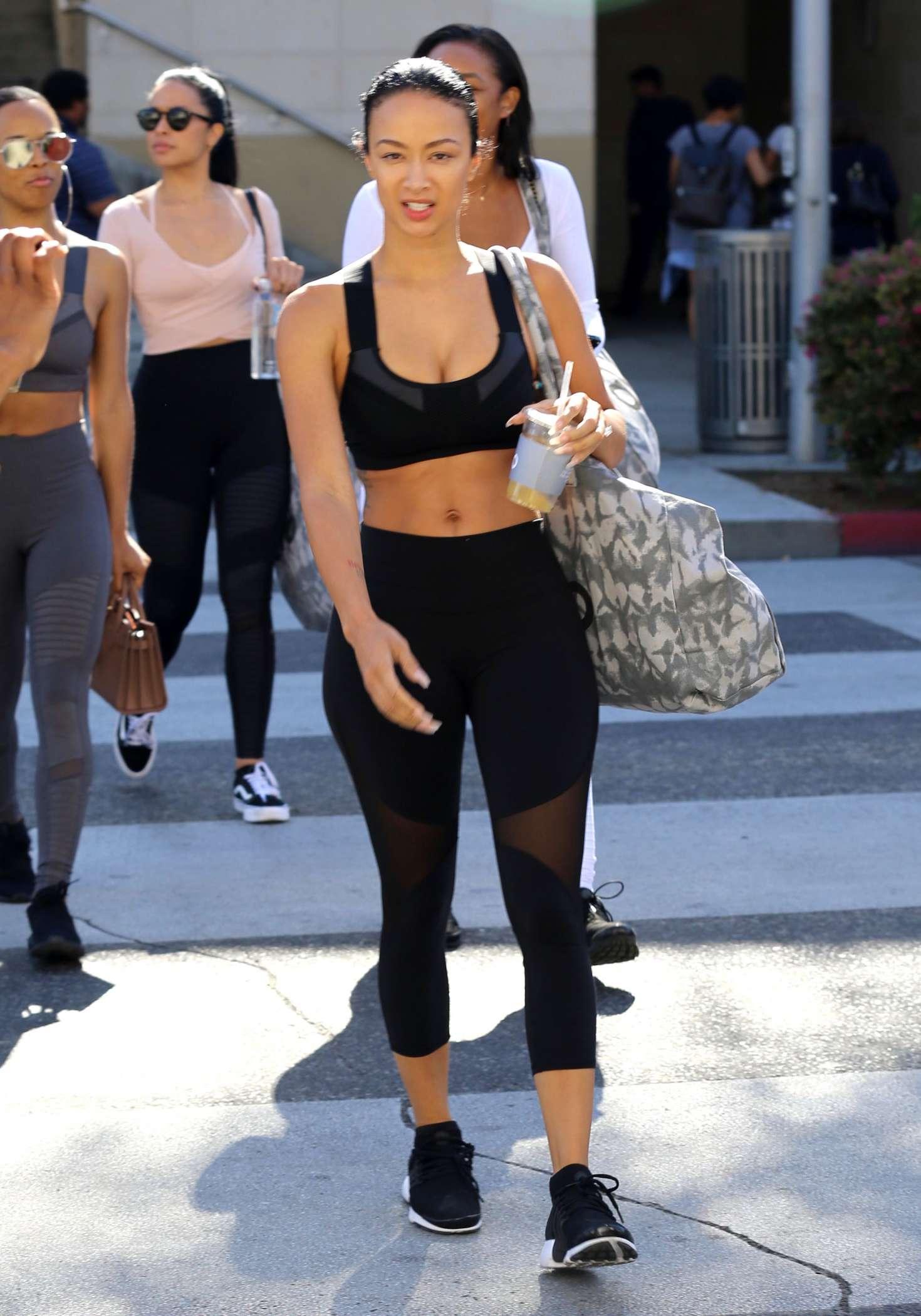 Draya Michele 2017 : Draya Michele Leaving a yoga class -01