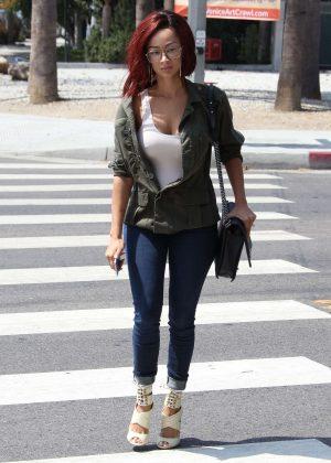 Draya Michele Leaving the Kelley Baker Salon in LA