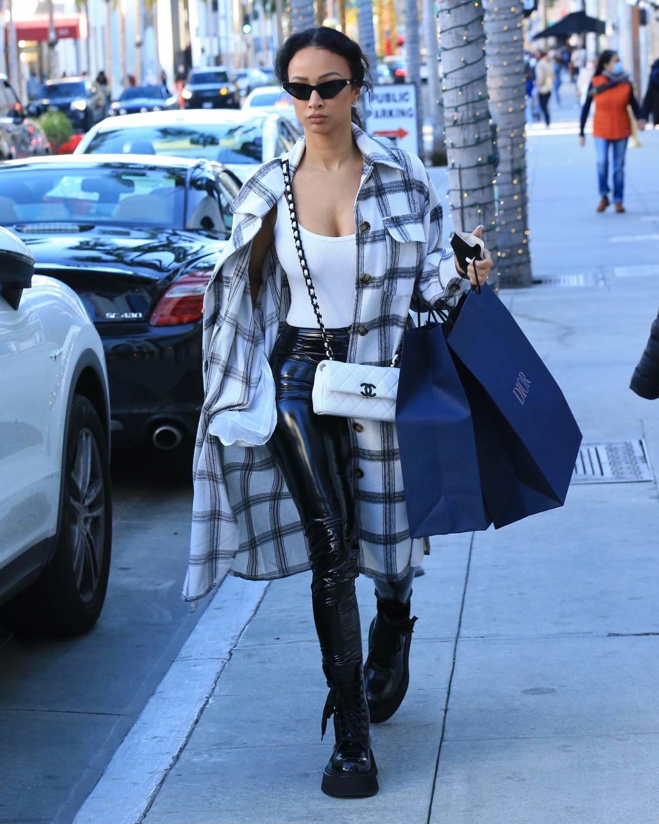 Draya Michele - Shopping candids on Rodeo Drive in Beverly Hills