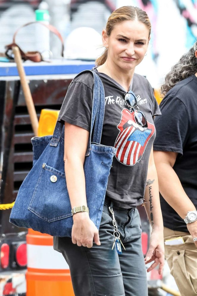 Drea de Matteo - In a Rolling Stones t-shirt out in NYC
