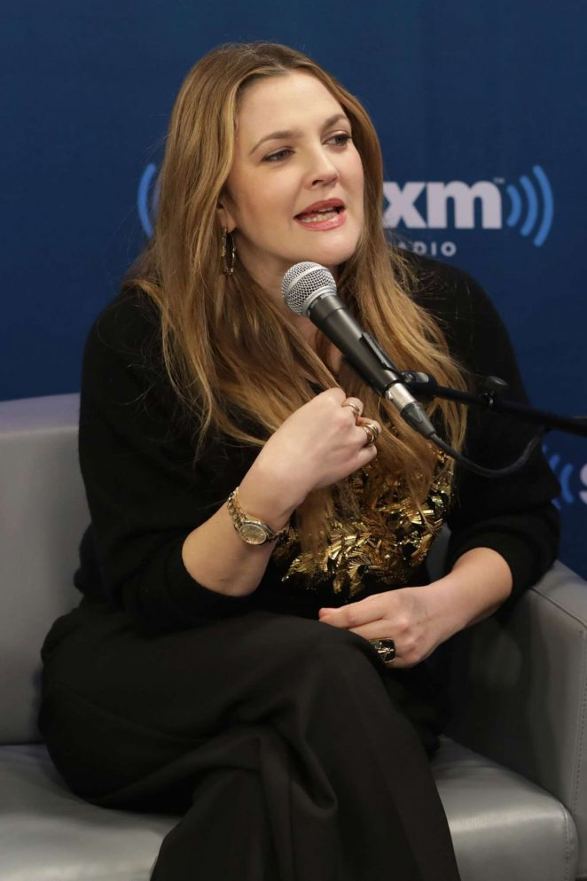 Drew Barrymoore at SiriusXM in New York