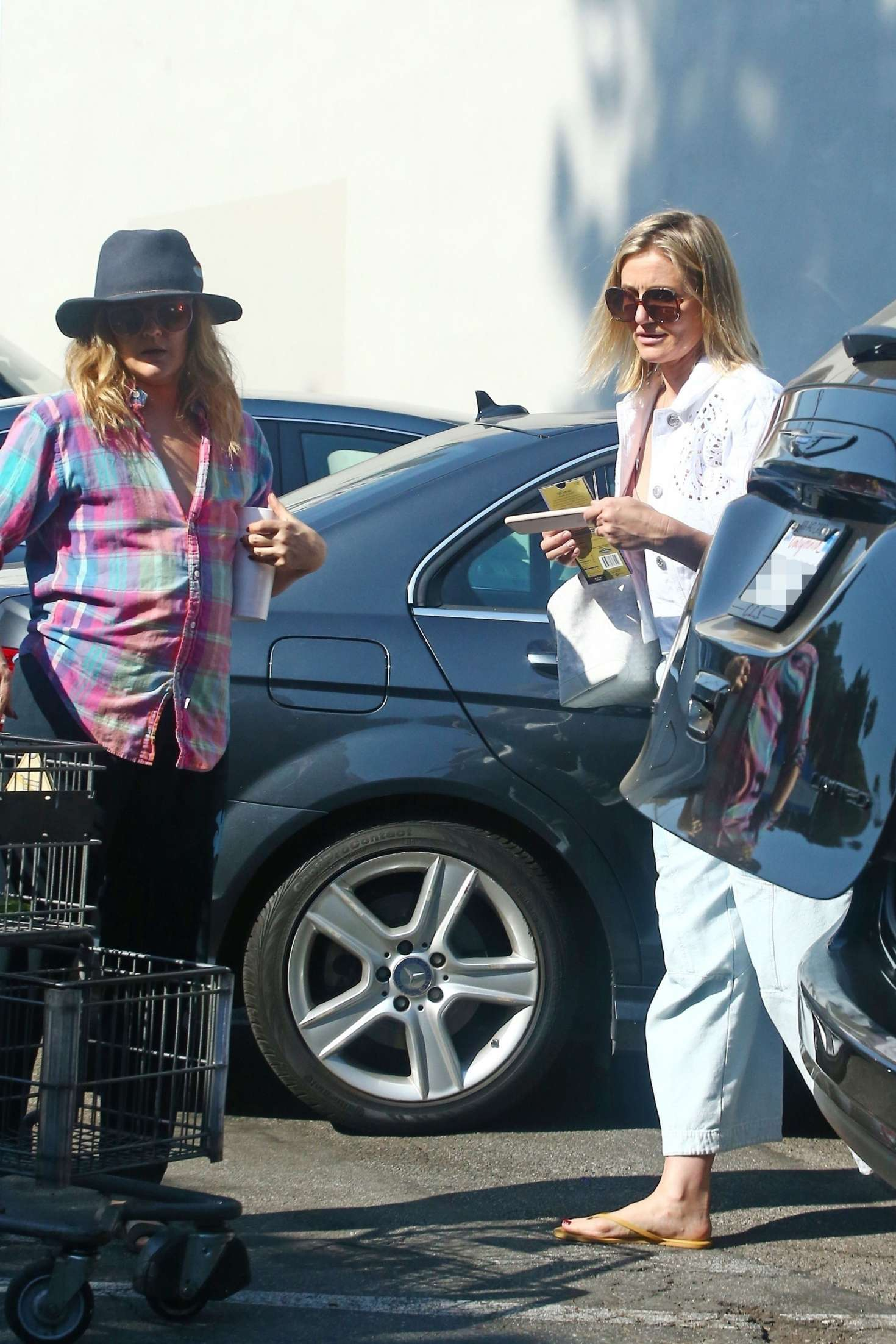 Drew Barrymore and Cameron Diaz - Shopping at Bristol Farms in Hollywood