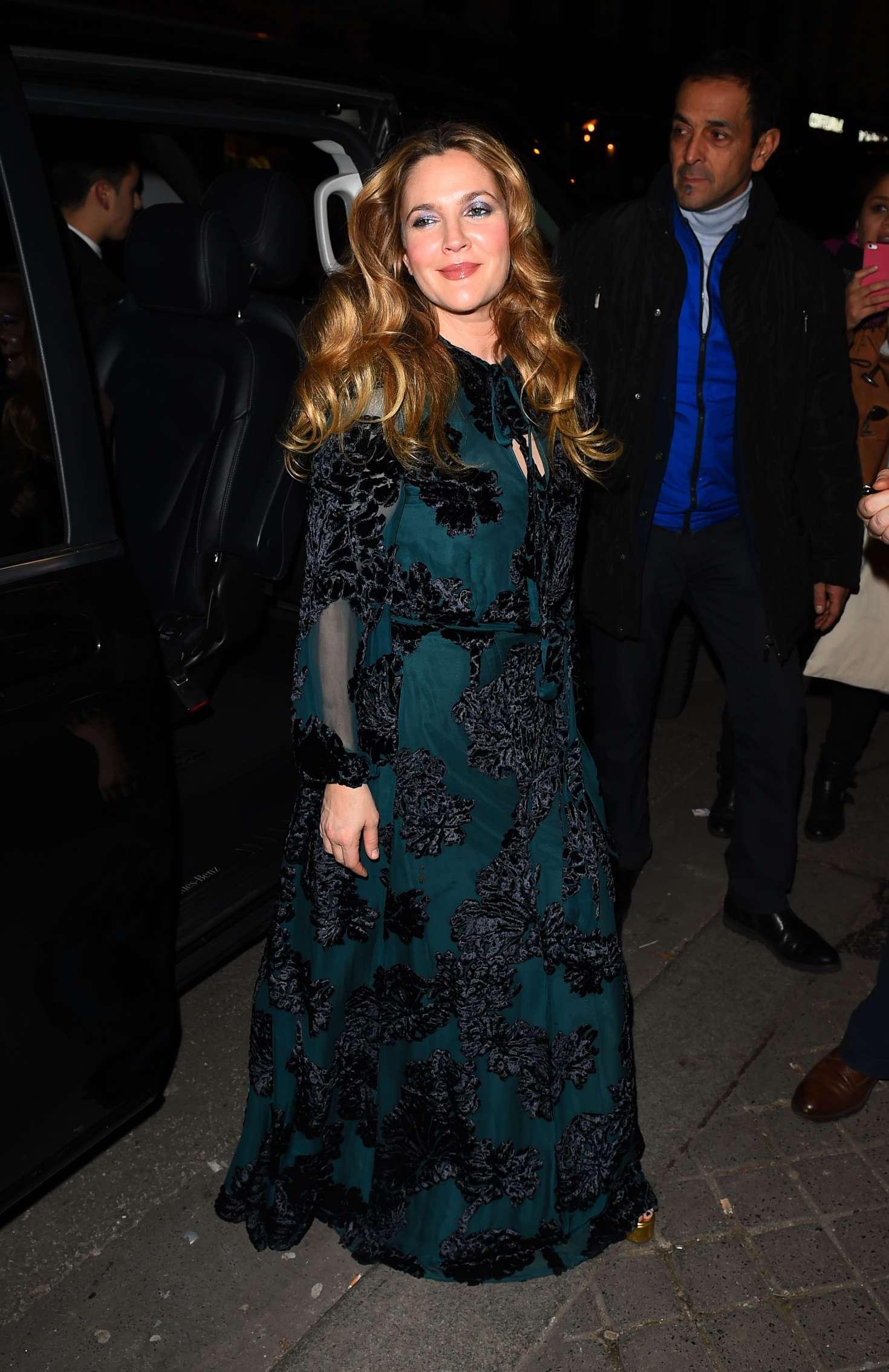 Drew Barrymore 2017 : Drew Barrymore: Arrives at C A Vous TV Show -03