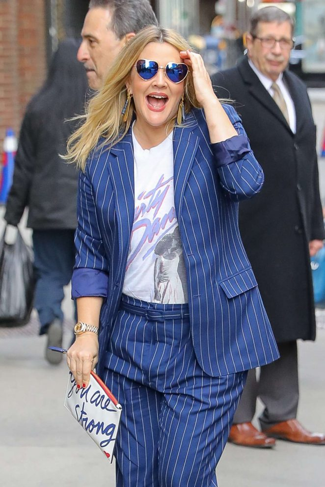 Drew Barrymore - Arriving to the 'Late Show with Stephen Colbert' in NYC