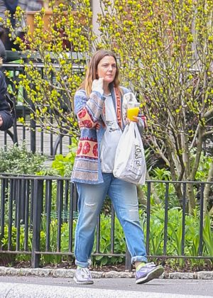 Drew Barrymore in Jeans out in New York