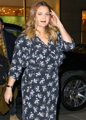 Drew Barrymore in Long Dress – Shopping in NY