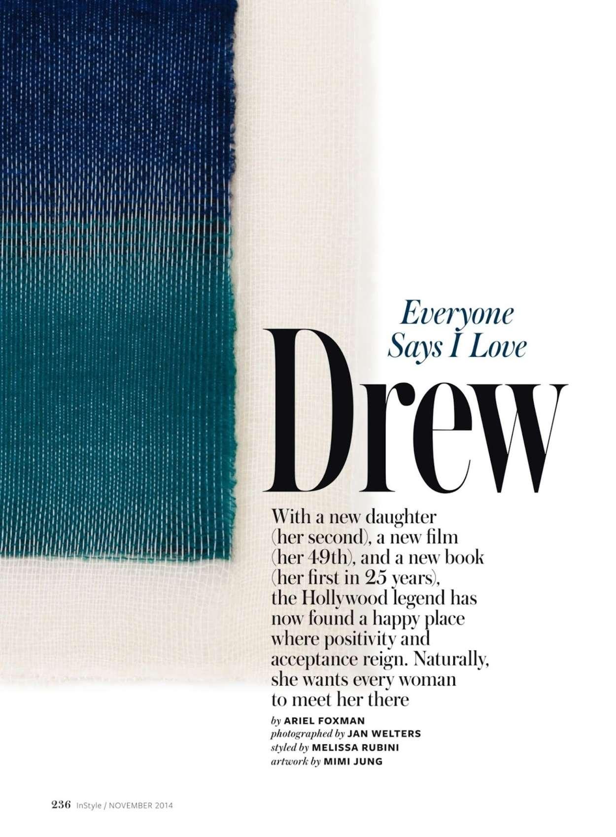Drew Barrymore 2015 : Drew Barrymore: InStyle US 2015 -05