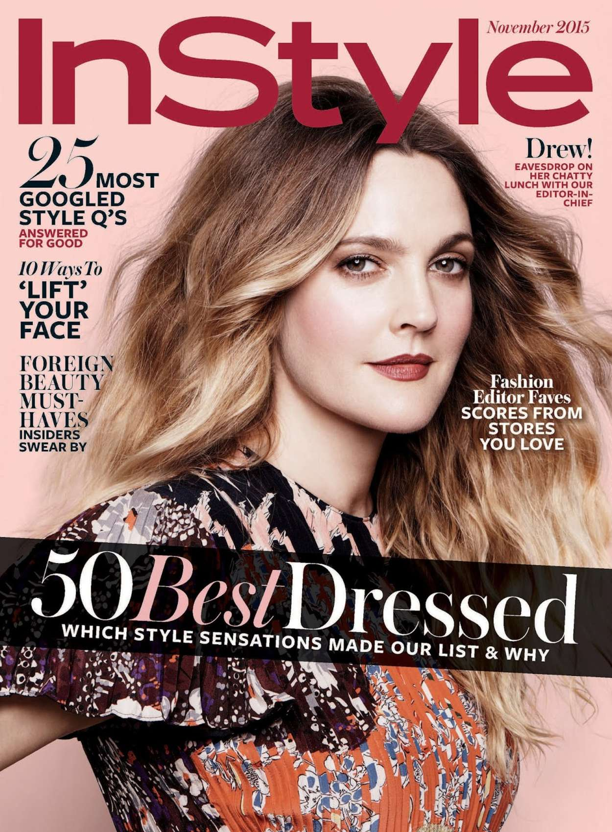Drew Barrymore 2015 : Drew Barrymore: InStyle US 2015 -07