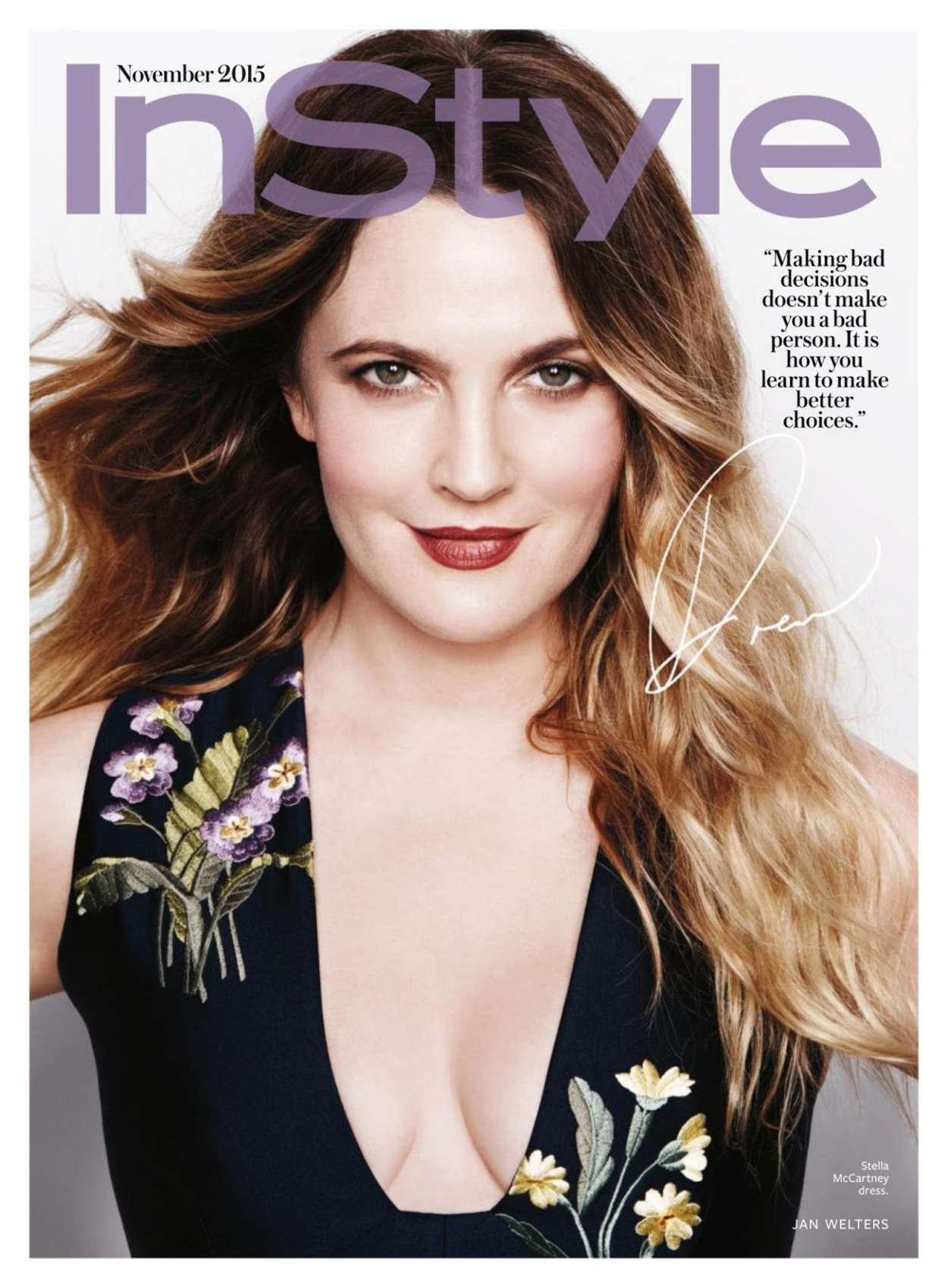 Drew Barrymore - InStyle US Magazine (November 2015)