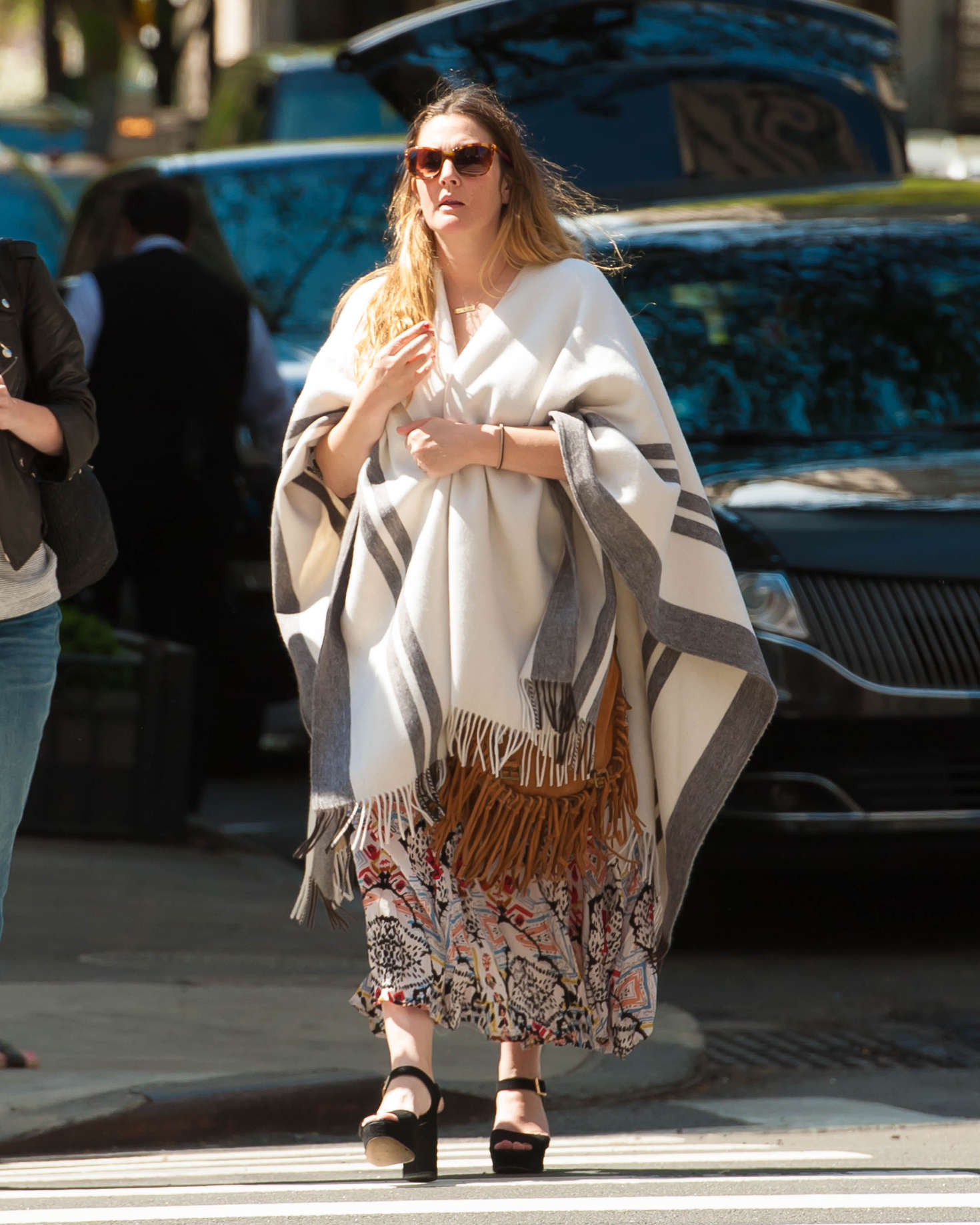 Drew Barrymore out and about in New York