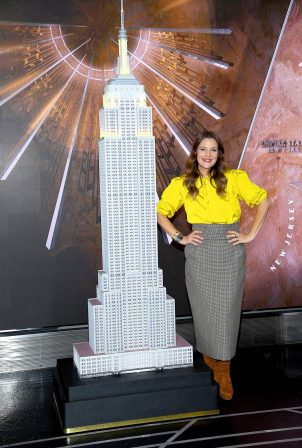 Drew Barrymore - Pictured by lighting the Empire State Building in Midtown Manhattan