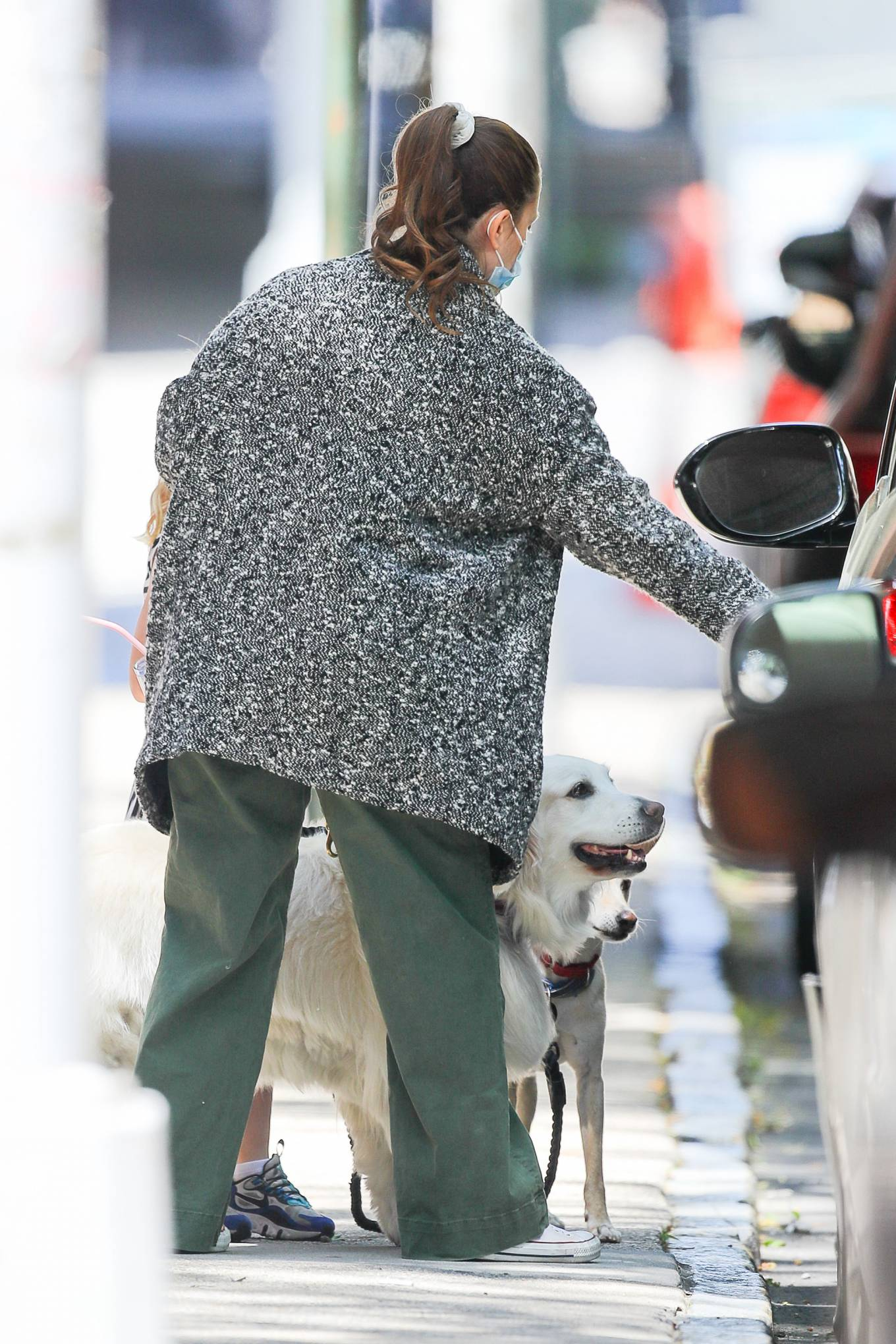 Drew Barrymore 2021 : Drew Barrymore – Seen with her dog while out and about in New York-05