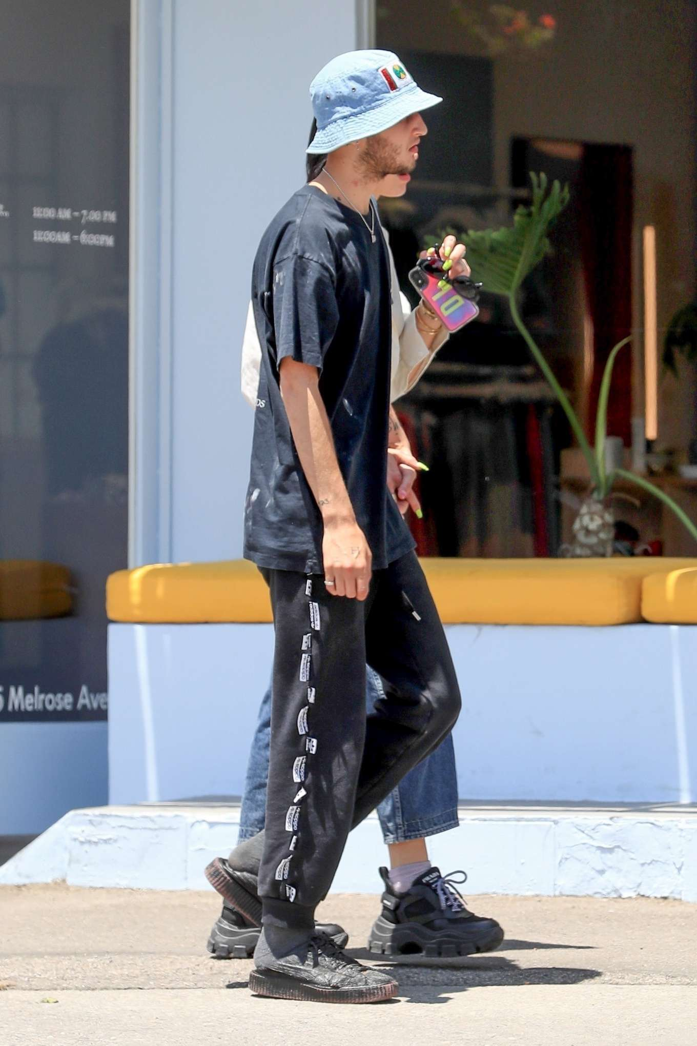 Dua Lipa 2019 : Dua Lipa and Anwar Hadid – Out on Melrose Ave-02
