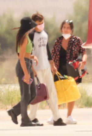 Dua Lipa - And boyfriend Anwar Hadid catch a private jet out of Ibiza