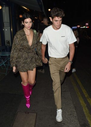 Dua Lipa and Isaac Carew at Palomar in Soho