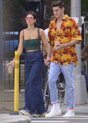 Dua Lipa and Isaac Carew out in New York
