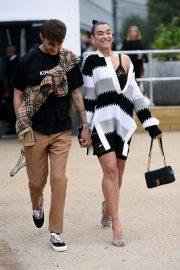 Dua Lipa - Arrives at Burberry Fashion Show in London