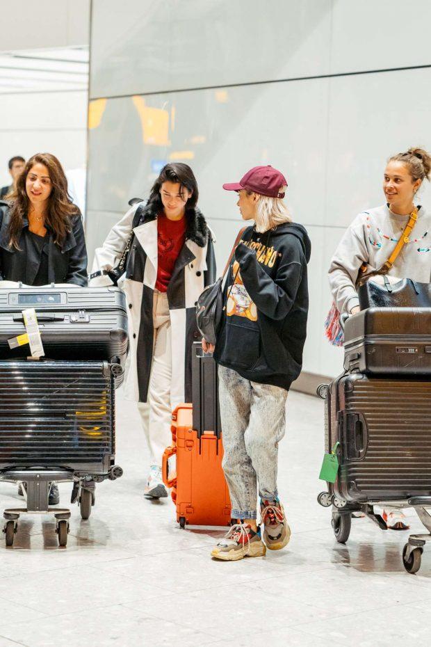 Dua Lipa 2019 : Dua Lipa: Arrives at Heathrow Airport-04