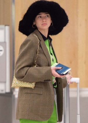 Dua Lipa - Arrives at JFK Airport in NYC