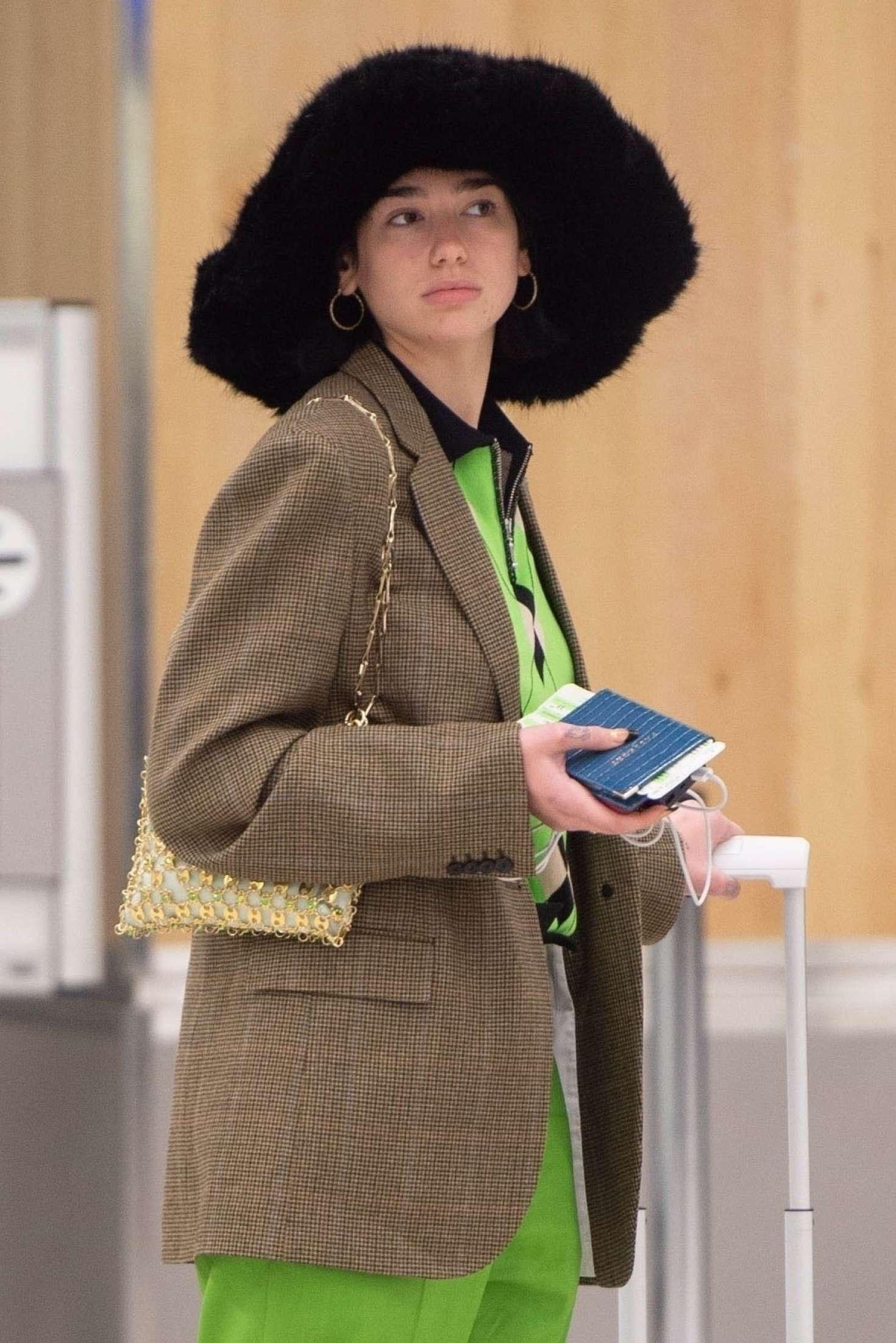 Dua Lipa - Arrives at JFK Airport in NYC
