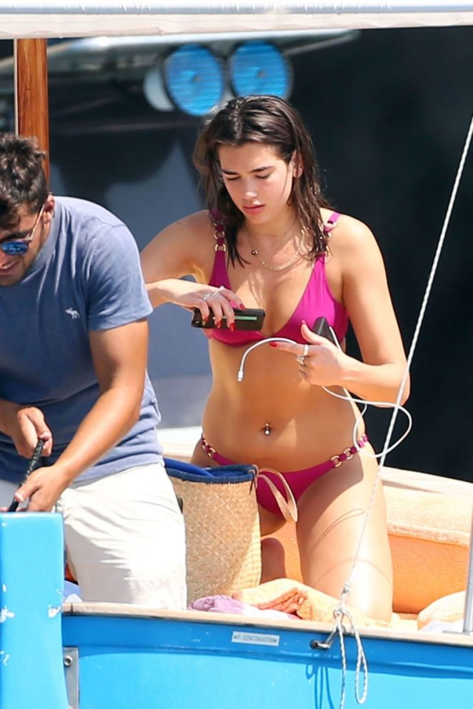 Dua Lipa Bikini On Holiday In Capri 04 Gotceleb