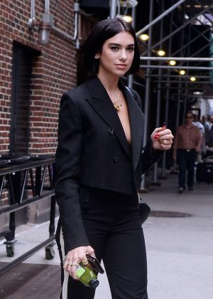 Dua Lipa - Leaving Stephen Colber show in New York City