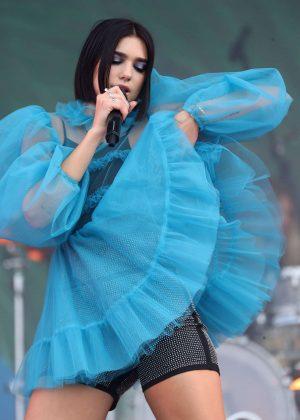 dua lipa performs live at lollapalooza paris festival in paris. Black Bedroom Furniture Sets. Home Design Ideas