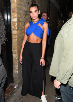 Dua Lipa - Seen Leaving BrickLane Yard After an Event