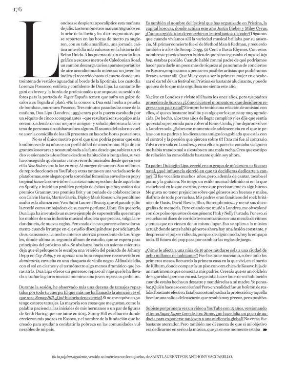 Dua Lipa 2019 : Dua Lipa – Vogue Espana 2019-08