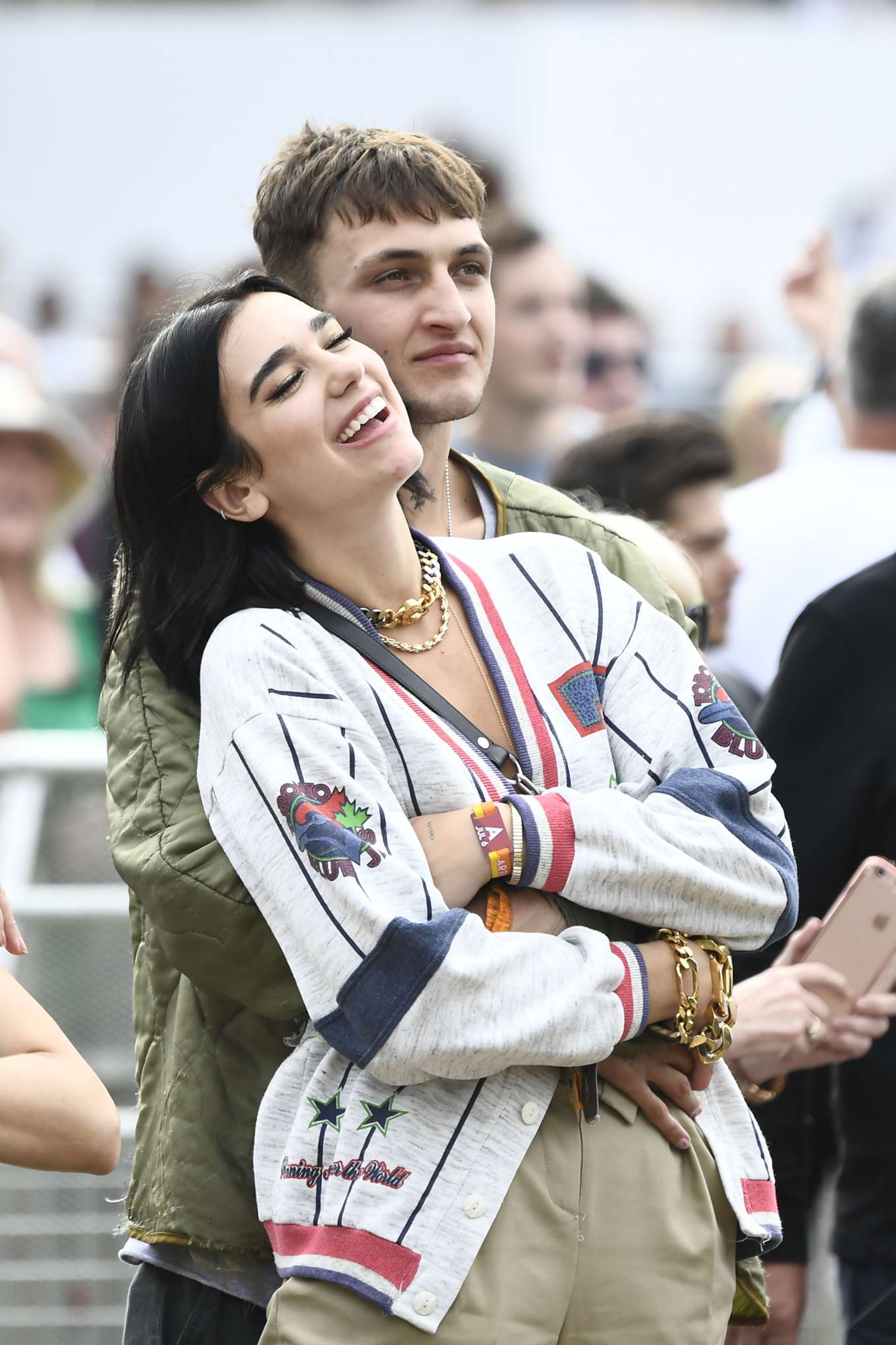 Dua Lipa - Watching Lionel Richie at British Summertime 2019 in London