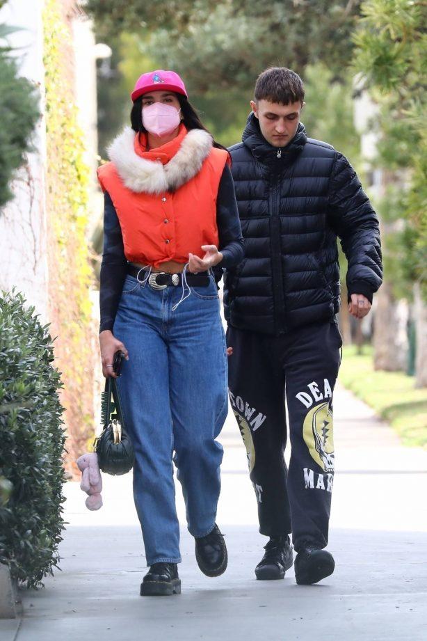 Dua Lipa - With boyfriend Anwar Hadid getting some groceries at Erewhon Market in Los Angeles