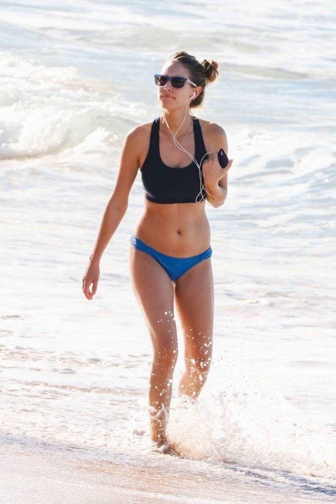 Dylan Penn in Bikini on the beach in Hawaii