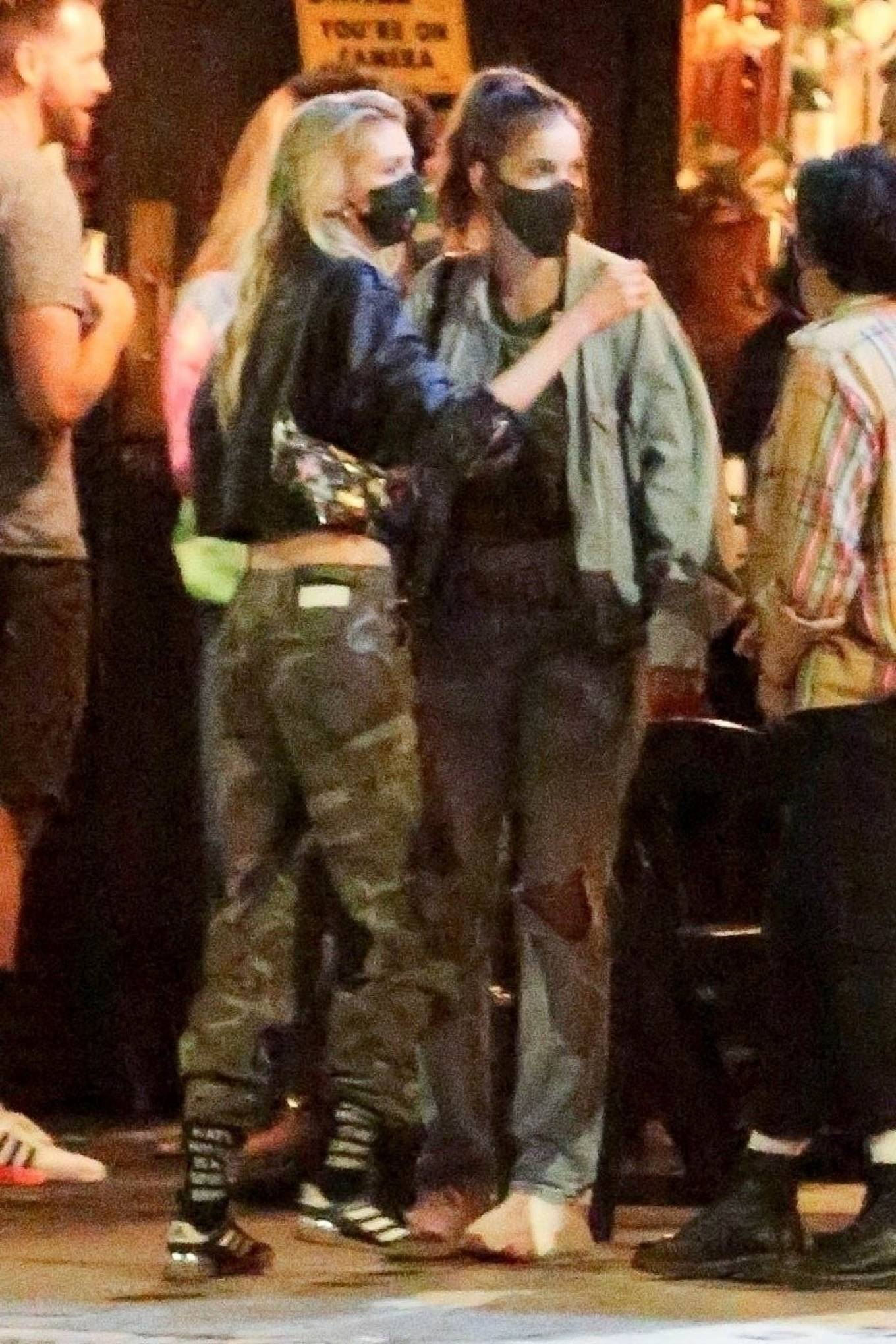 Barbara Palvin 2020 : Dylan Sprouse and Barbara Palvin with KJ Apa and Stella Maxwell – Night out in Silverlake -05
