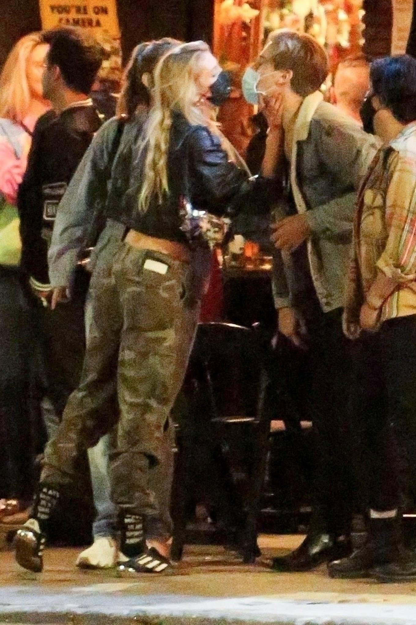 Barbara Palvin 2020 : Dylan Sprouse and Barbara Palvin with KJ Apa and Stella Maxwell – Night out in Silverlake -06