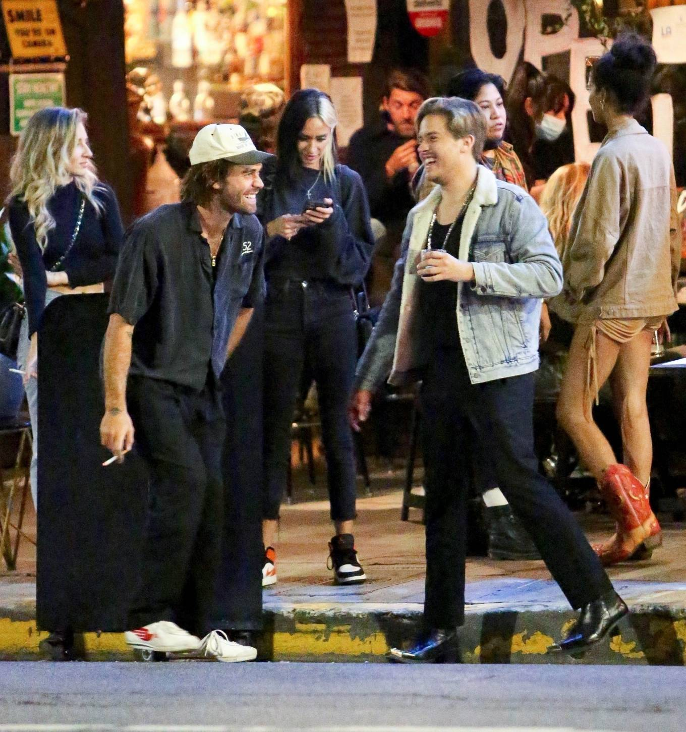 Barbara Palvin 2020 : Dylan Sprouse and Barbara Palvin with KJ Apa and Stella Maxwell – Night out in Silverlake -07
