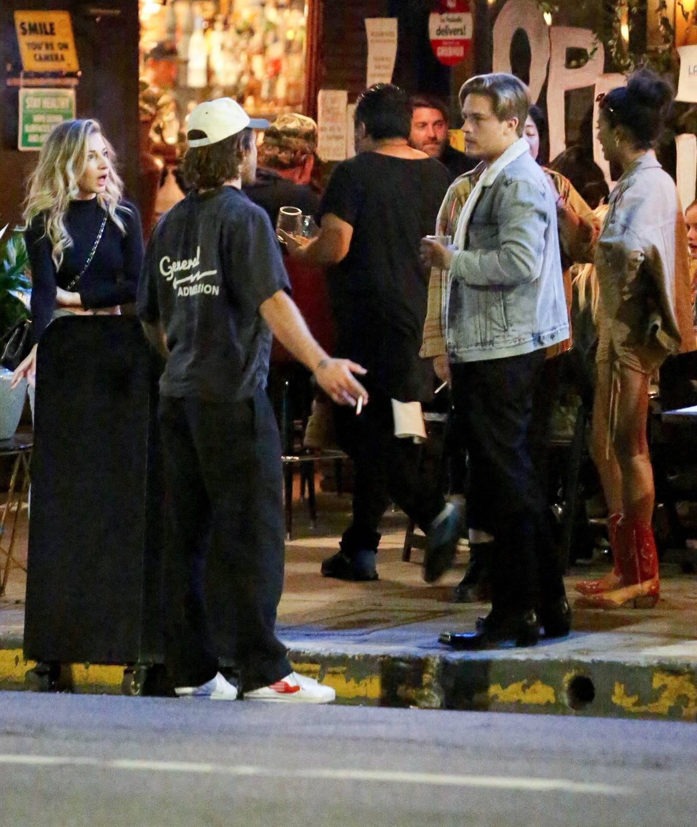 Barbara Palvin 2020 : Dylan Sprouse and Barbara Palvin with KJ Apa and Stella Maxwell – Night out in Silverlake -08