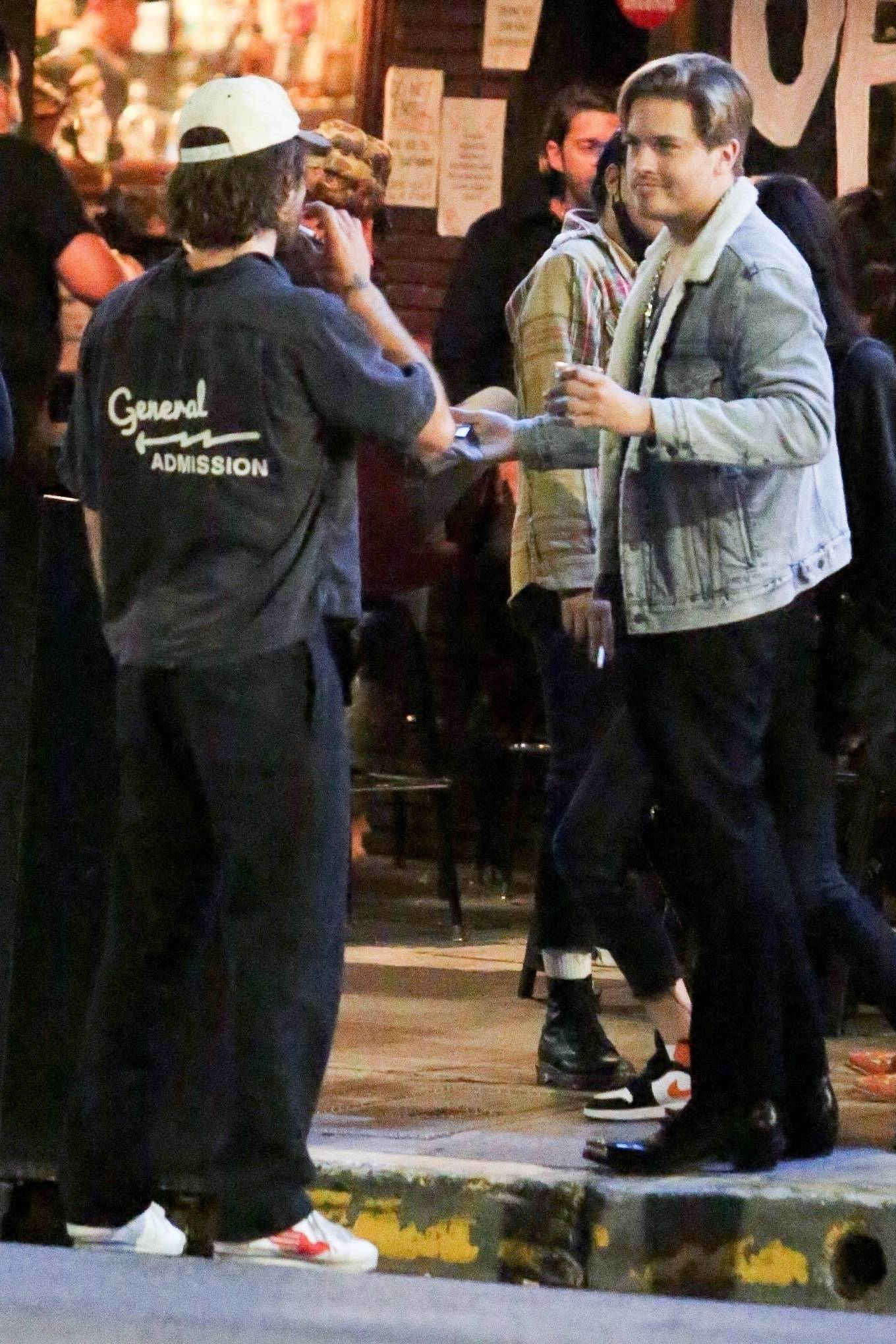 Barbara Palvin 2020 : Dylan Sprouse and Barbara Palvin with KJ Apa and Stella Maxwell – Night out in Silverlake -13